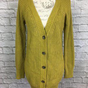 BCBGeneration Mustard Color Knit Cardigan Size S